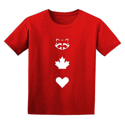 TO Canada with Love ICONS T-Shirt, Red - Youth