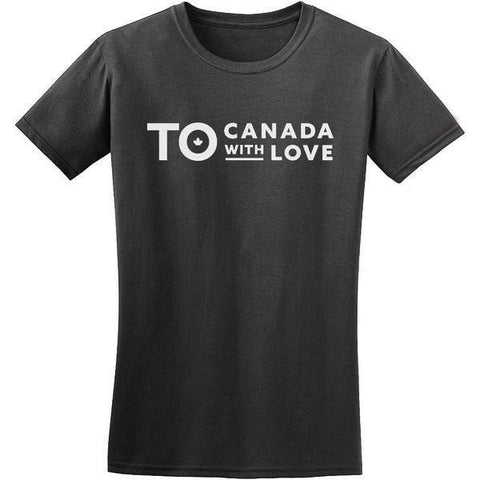 TO Canada with Love T-Shirt, Heather Black - Ladies'