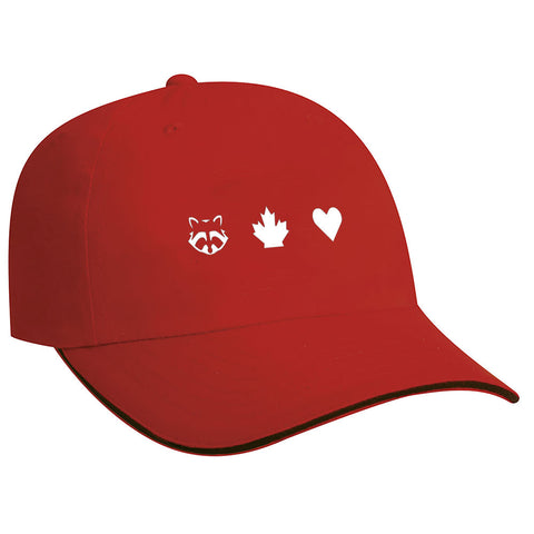 TO Canada with Love ICONS Relaxed Fit Baseball Cap, Red