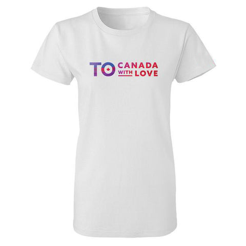 TO Canada with Love T-Shirt, White - Ladies'