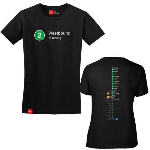 Westbound Line T-Shirt - Ladies'