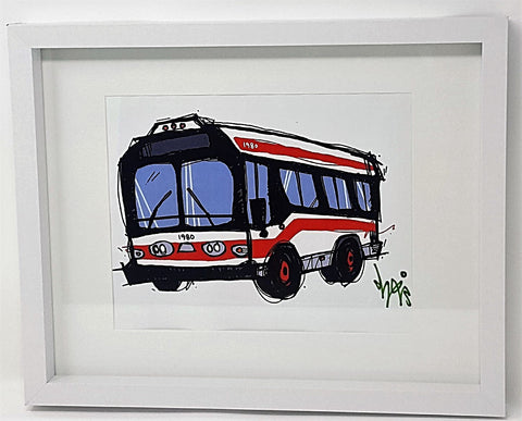 Framed Bus Print
