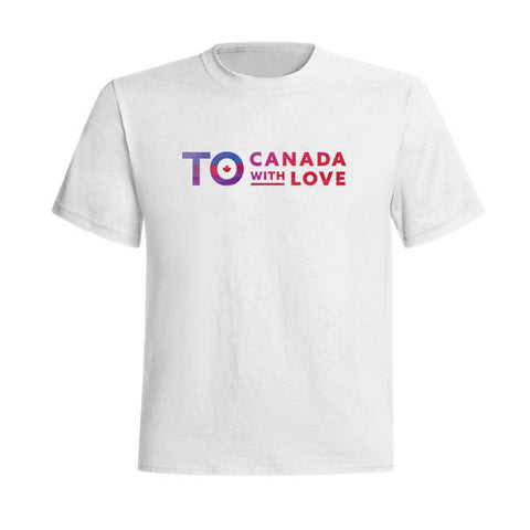 TO Canada with Love T-Shirt, White - Youth