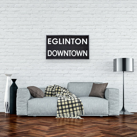 Eglinton/Downtown Framed Subway Blind