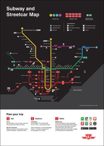 Subway and Streetcar Map-Poster