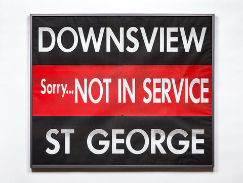 Downsview/ Out of Service/ St. George Large Framed Subway Blind
