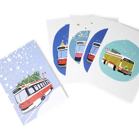 Street Car Note Cards - Set of 5