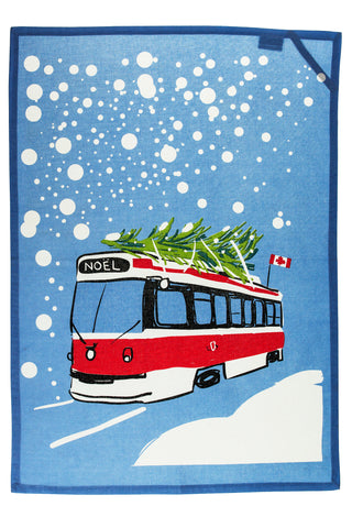 Holiday Streetcar Kitchen Towel