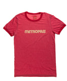 Retro Metropass T-Shirt, Men's-Heather Red