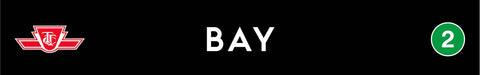 Bay Wooden Station Sign