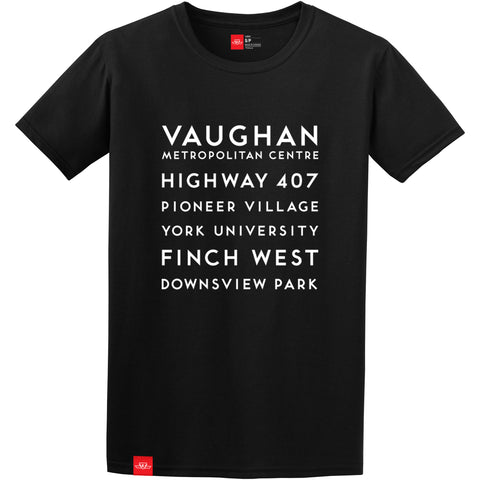 New Stations T-Shirt, Black - Men's