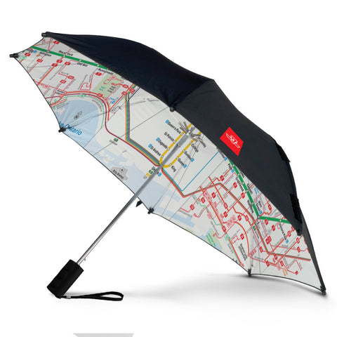 System Map Double Cover Folding Umbrella