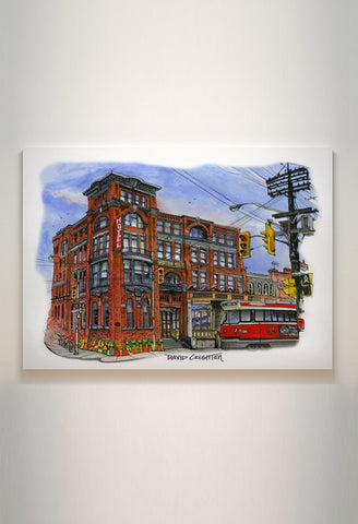 Gladstone Hotel with Streetcar on Canvas Wrap