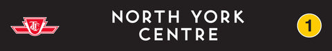 North York Centre Wooden Station Sign