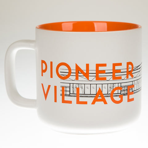 Pioneer Village Station Mug, Orange