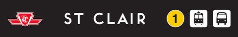 St. Clair Wooden Station Sign