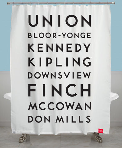 Stations Shower Curtain