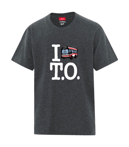I Love T.O. Kids T-Shirt, Dark Grey