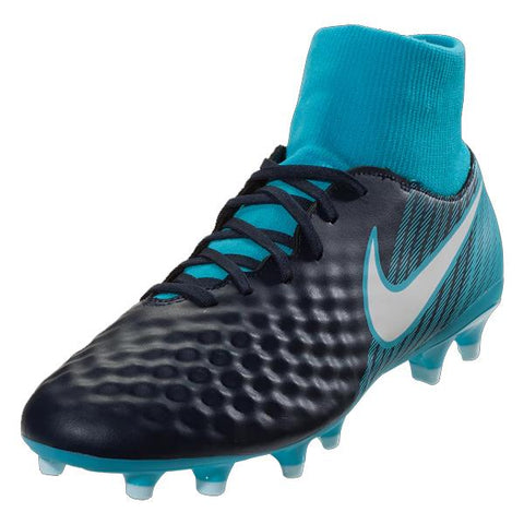 NIKE Magista OndaII DF FG CLEATS (OBSIDIAN/GAMME BLUE)