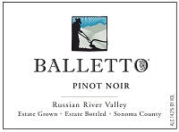 2014 BALLETTO PINOT NOIR 750ML