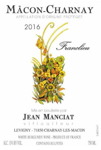 2016 JEAN MANCIAT MACON CHARNAY FRANCLIEU 750ML