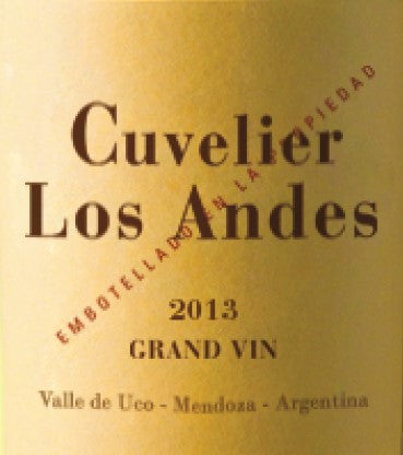 2013 CUVELIER LOS ANDES GRAND VIN 750ML