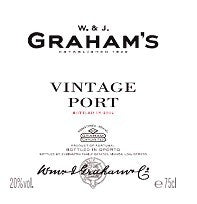 2016 GRAHAM'S PORT VINTAGE 750ML
