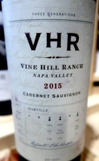 VHR VINE HILL RANCH CABERNET