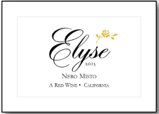 2015 ELYSE NERO MISTO RED BLEND 750ML