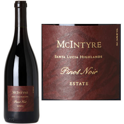 2014 MCINTYRE VINEYARDS SANTA LUCIA HIGHLANDS PINOT NOIR 750ML