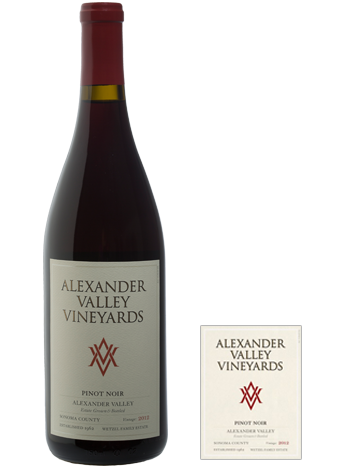 2016 ALEXANDER VALLEY VINEYARDS PINOT NOIR 750ML