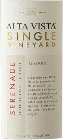 2013 ALTA VISTA MALBEC SINGLE VINEYARD SERENADE 750ML