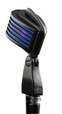 The Fin Satin Black/Blue LED Microphone
