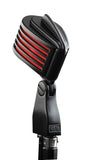 The Fin Satin Black/Red LED Microphone