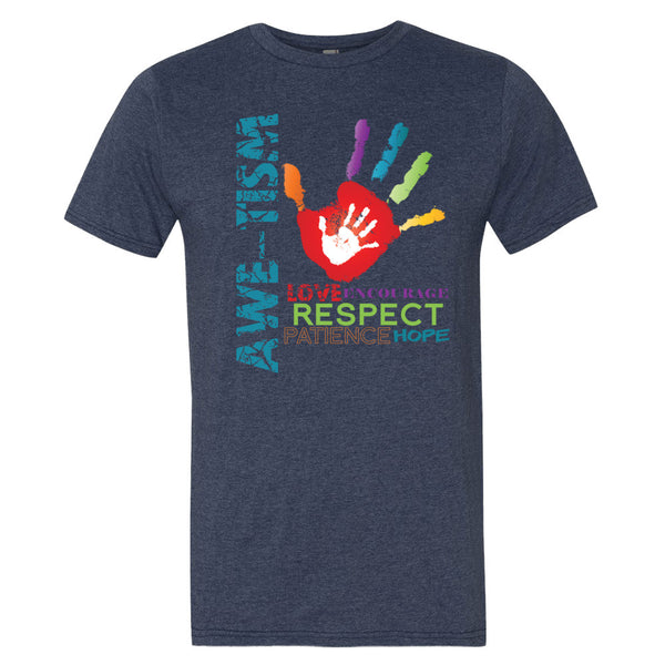 Men's Awe-Tism Support Shirt - Autism Awareness Merchandise