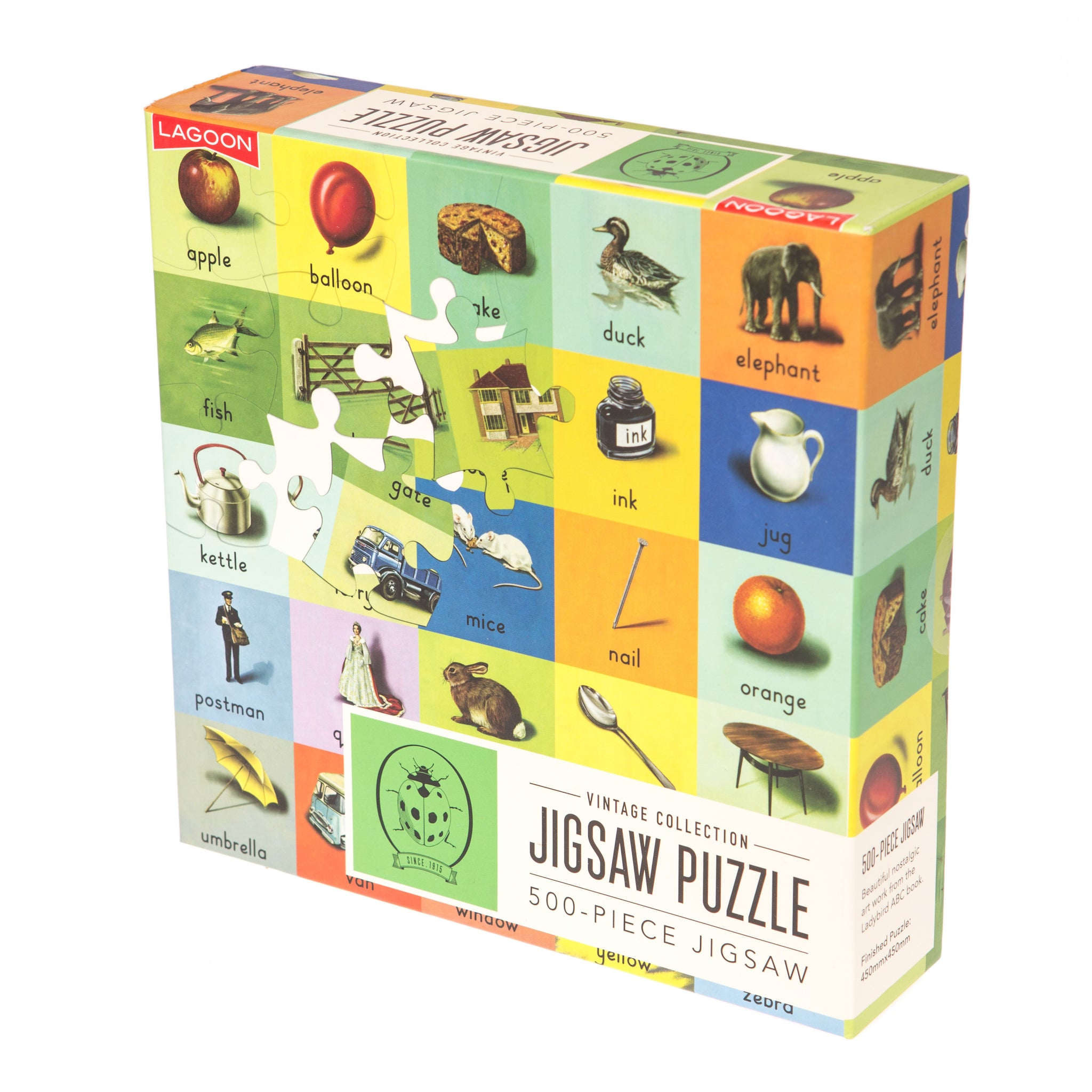 Vintage Ladybird – ABC Jigsaw Puzzle (500 pieces)