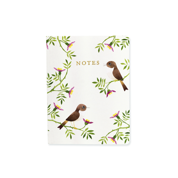 Matt Sewell's Birds A6 Notebook - Nightingales