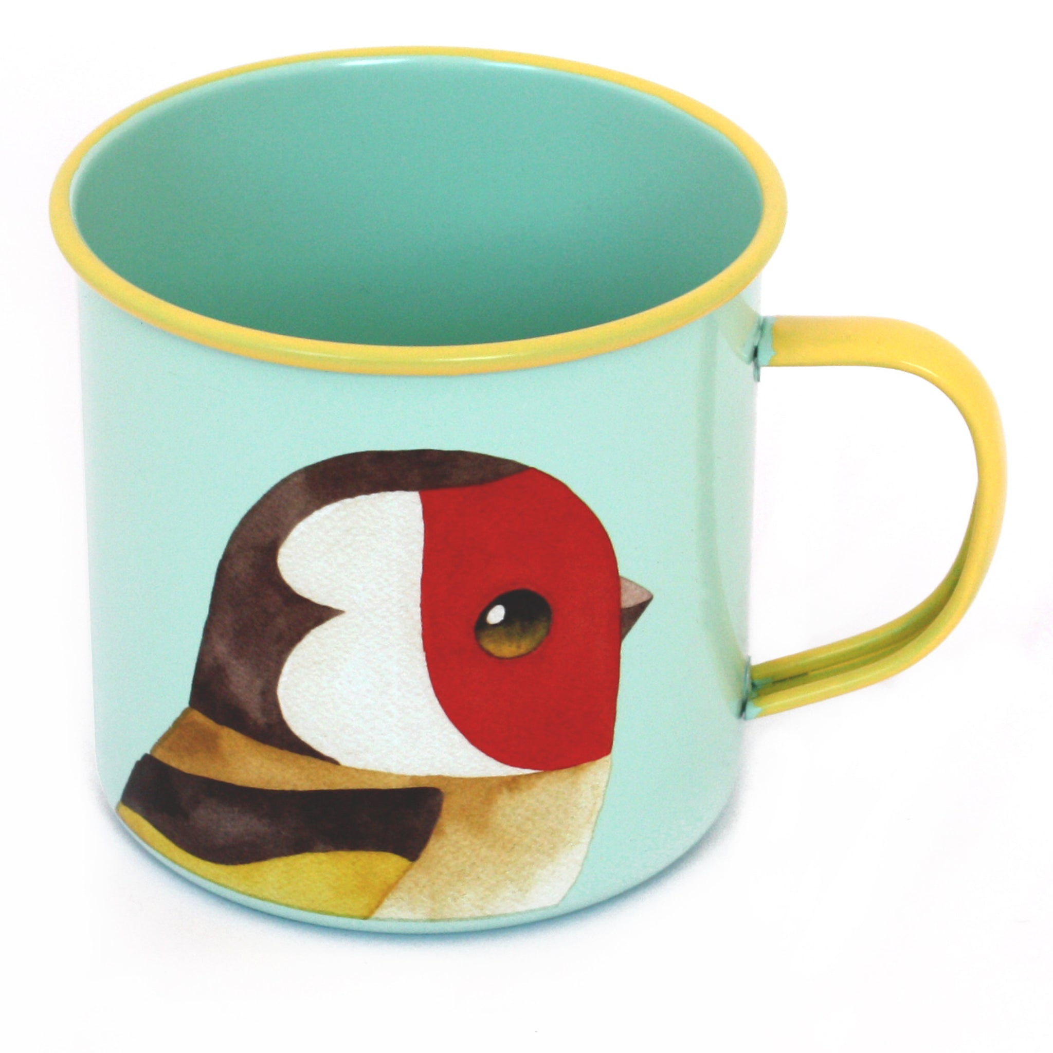 Matt Sewell's Birds – Goldfinch Enamel Mug
