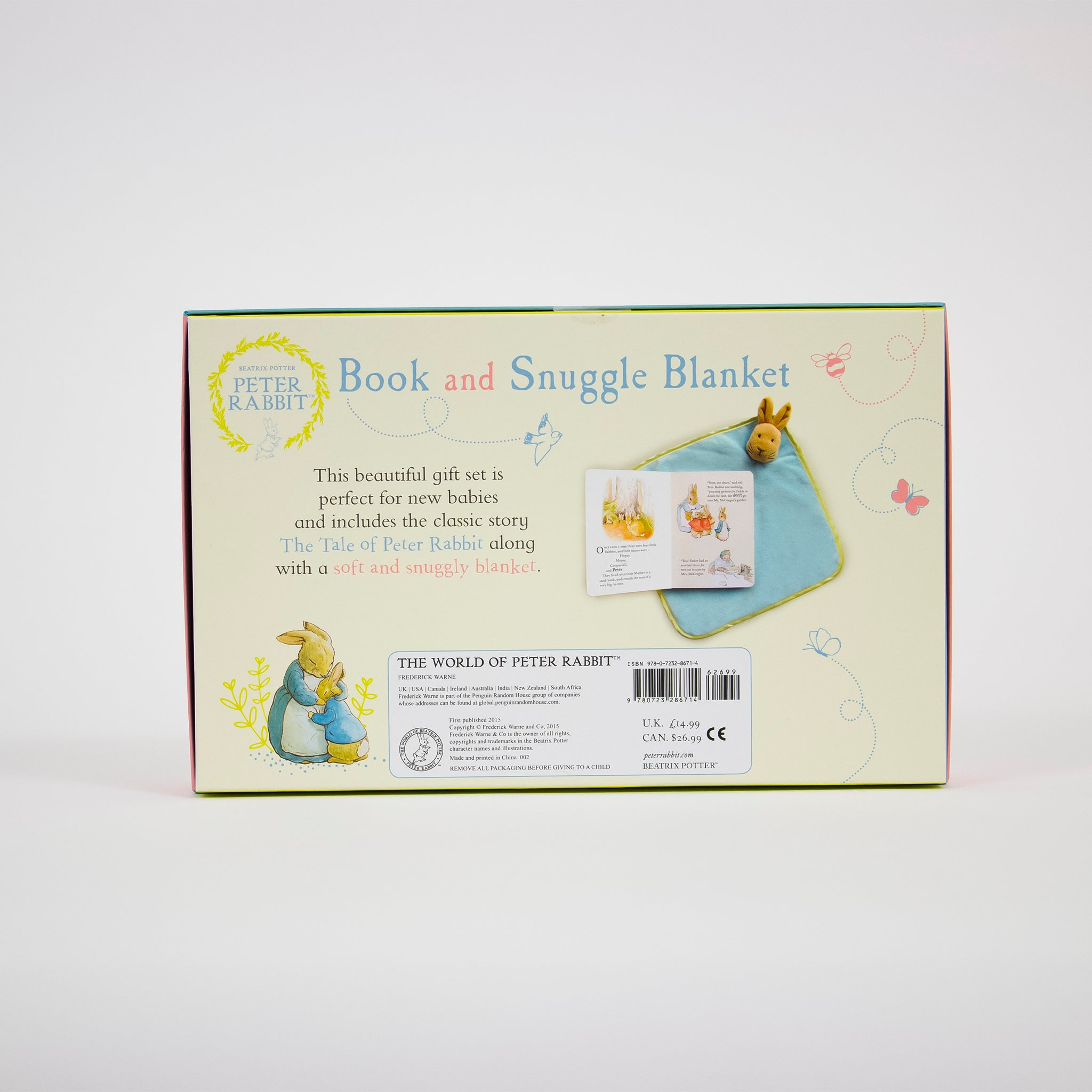 Peter Rabbit - Book & Snuggle Blanket