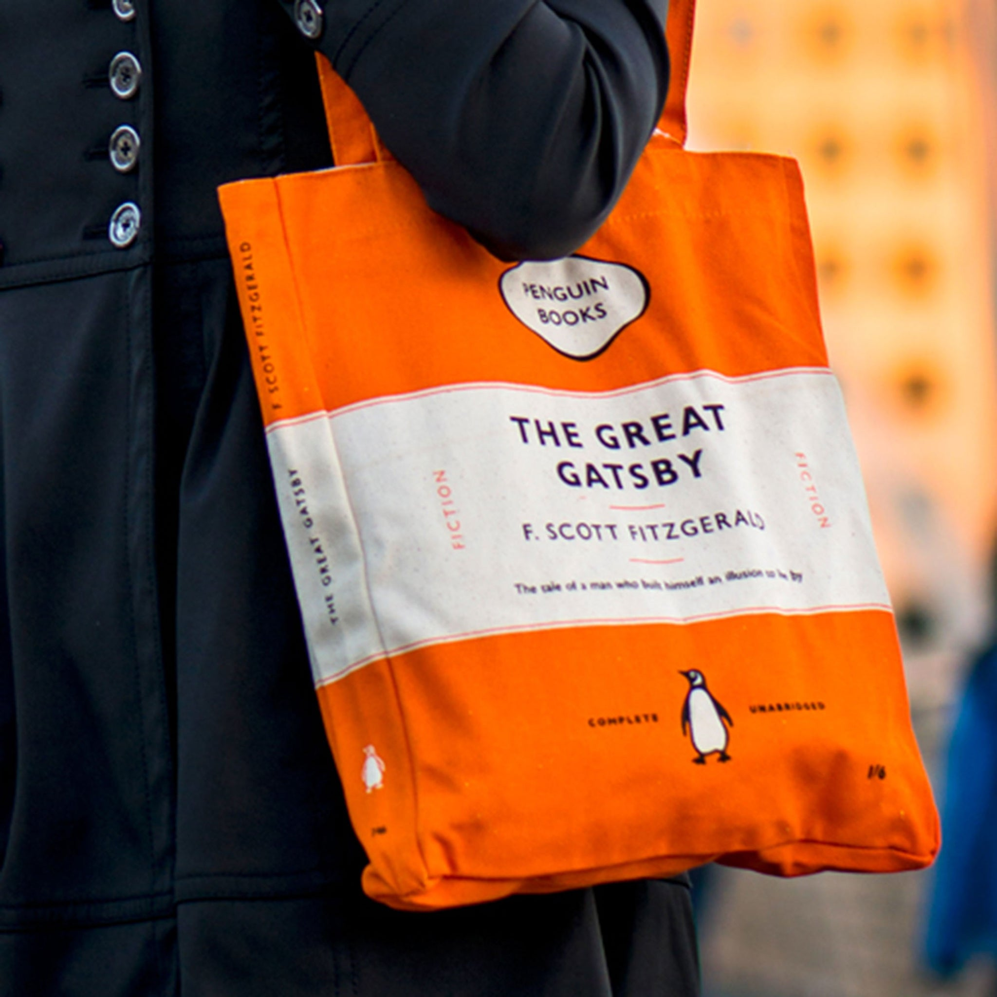 Penguin Book Cover Bag : The great gatsby penguin tote bag shop