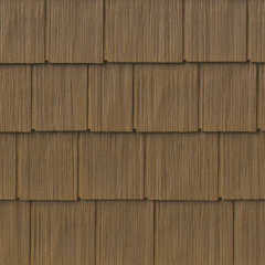 TandoShake Rustic Cedar 6 Composite Siding with Tando Signature Stain and Accessories