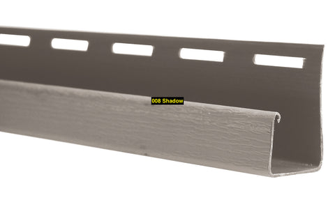 "Foundry, Vinyl Shake Siding, Round Shape, 3/4"" J-Channel"