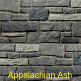 Creek LedgeStone Vinyl Stone Siding Appalachian Ash color
