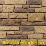 Creek LedgeStone Vinyl Stone Siding Arizona Sandstone color