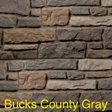Creek LedgeStone Vinyl Stone Siding Bucks County Gray color