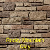 Creek LedgeStone Vinyl Stone Siding Rocky Mountain Clay color