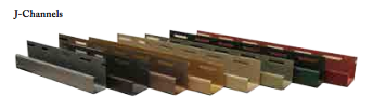 Tando, Creek Ledgestone Siding, J-Channel 1 1/8""