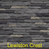 Tando Stacked Stone Vinyl Siding Lewiston Crest color