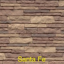 Tando Stacked Stone Vinyl Siding Santa Fe color
