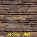 Tando Stacked Stone Vinyl Siding Sedona Bluff color